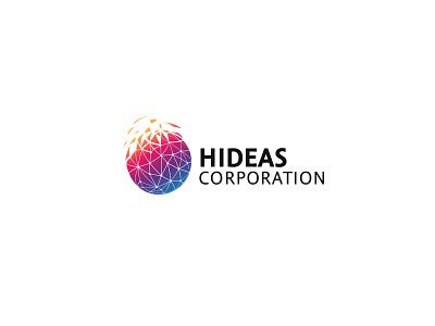 HIDEAS CORPORATION power links colourful glob clean television media business logo hideas corporation