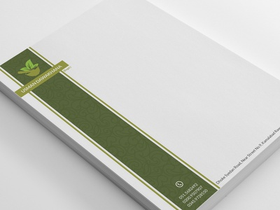 Usman Dawakhana Letterhead Design Template colorful medicine template design letterhead dawakhana usman