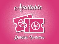 Dribbble Invitation Available