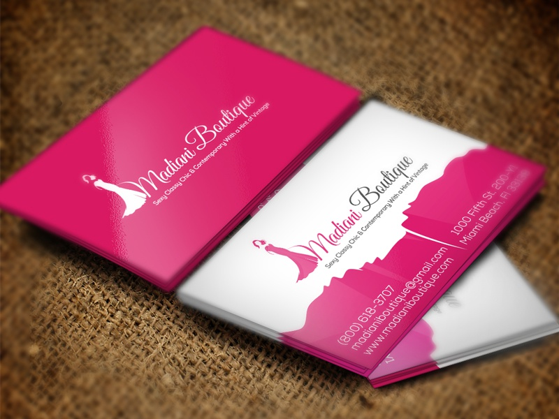 madiani boutique business card design by wwwshujapk logo design by wwwnasirpk platform wwwlogobyus for app design development contact us - Boutique Business Cards