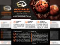 Grind house basketball leagues Flyer