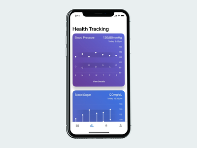 Health Tracking UI Animation ios interaction design motion design healthcare app ui ux ui animation mobile app