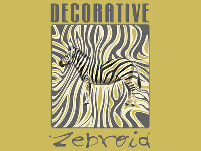 Decorative Zebroid vector illustrator