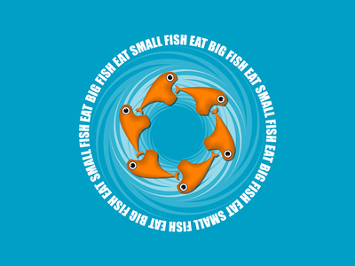 Big Fish Eat Small Fish vector illustrator