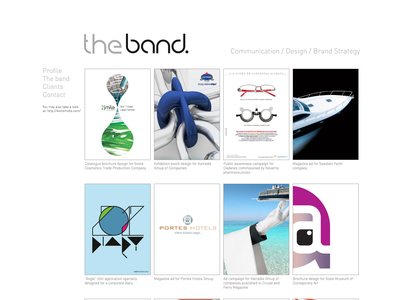 The band web design