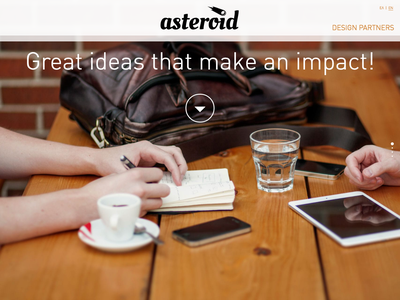 Asteroid web design