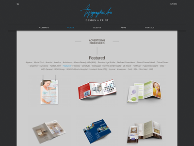 Tipo Graphic Arts web design