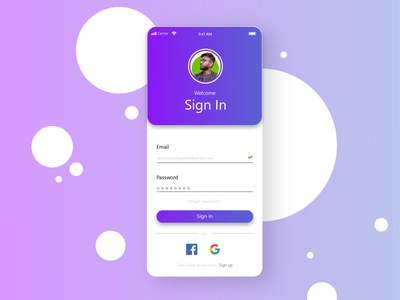 Daily UI Challenge #01 | sign up