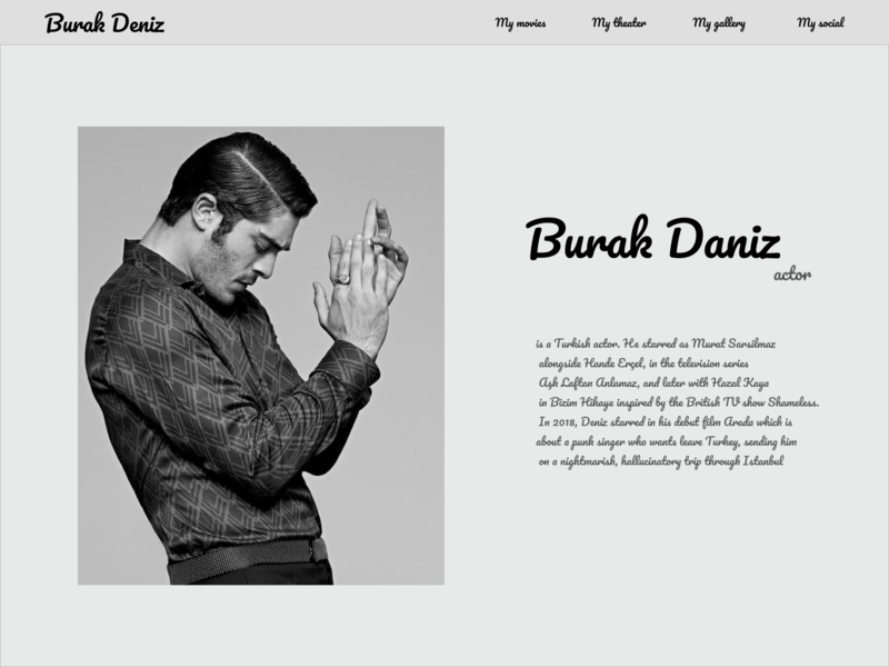 burak deniz site actor design web