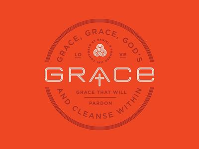 Grace love grace cross christ church logos branding brand badge