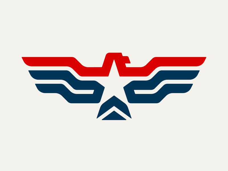 Eagle Cap brand united states usa star eagle america clothing embroidery print apparel logo design