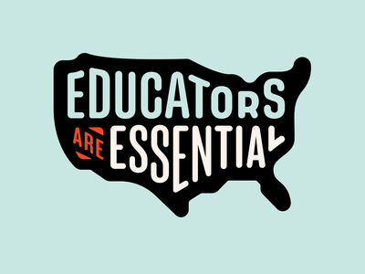 Educators are Essential usa logo branding