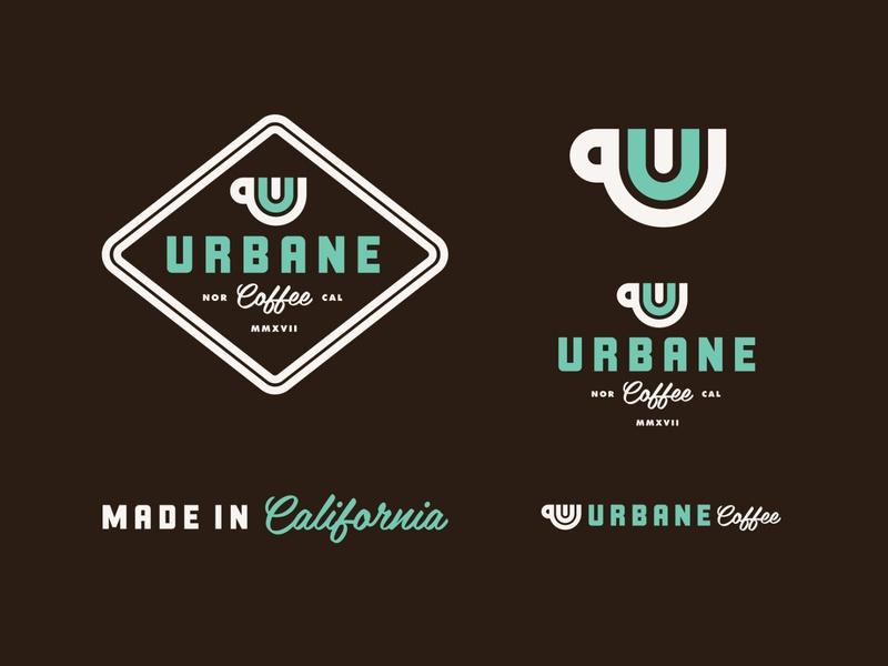Urbane Coffee packaging brand identity brand logos logo coffee shop
