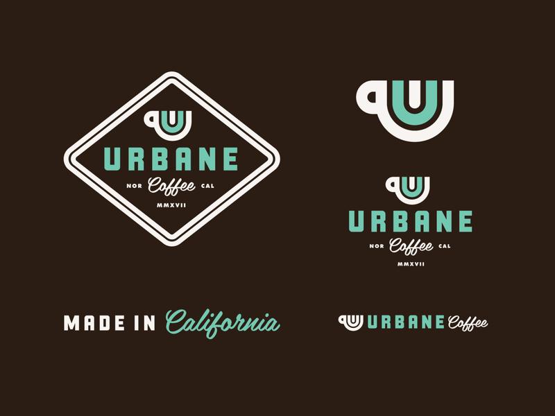 Urbane Coffee packaging brand identity brand logos logo coffee shop