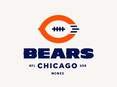 Chicago Bears Rebrand Proposal branding brand identity logos logo football