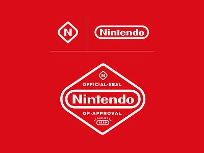 Nintendo Proposed Brand Update brand identity switch nes nintendo vector design identity classic brand badge badges branding crest logo