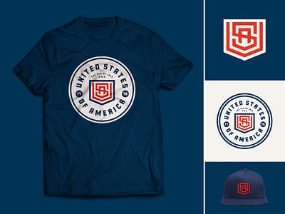 The USA Shield Collection logo badge american branding
