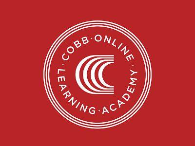 Cobb Online Learning Academy illustration design brand badge badges crest branding logo