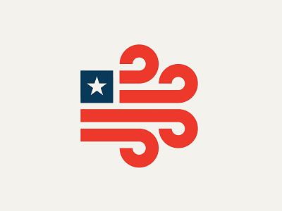 Winds of Change patriotism america gust wind flag logos branding brand logo