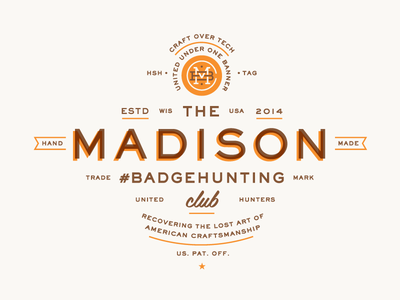 Madison Badgehunting Club badgehunting badges classic american crest minneapolis mn hunting