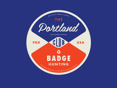 Portland Badgehunting Club logo badgehunting badges classic american crest minneapolis mn hunting