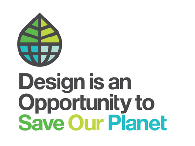 Design is an Opportunity to Save Our Planet greenearthideas earth leaf icon save eco