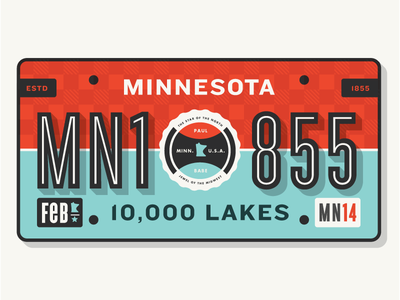 MN License Plate badgehunting badges classic american crest minneapolis mn hunting
