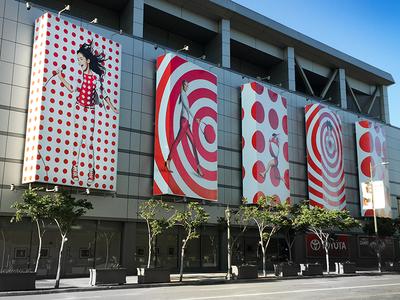 Target Branding / La Live stripes dots ooh branding target