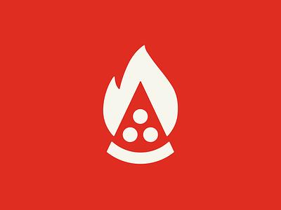 Firecraft Artisan Pizza icon firecraft identity logo pizza