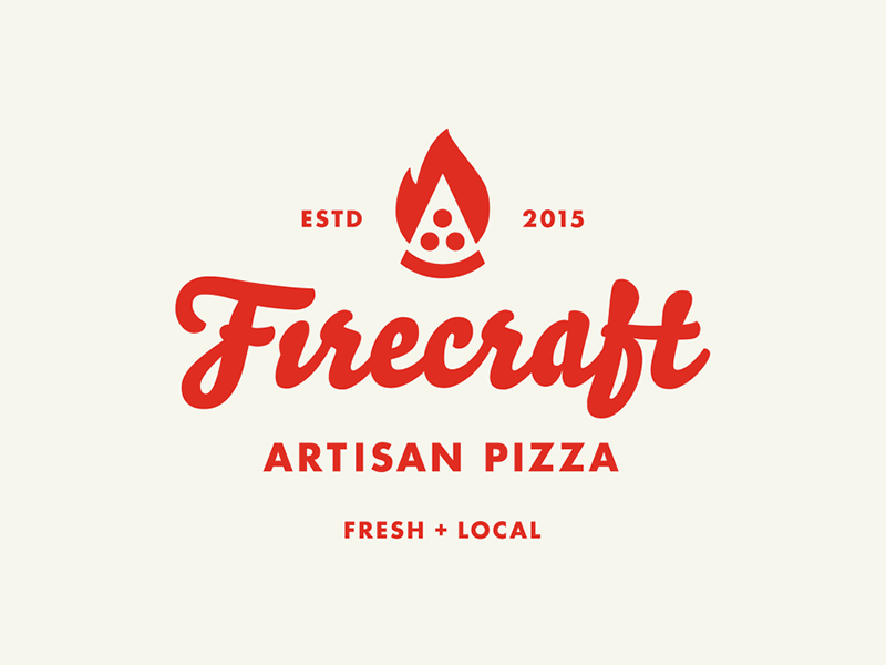 Firecraft Artisan Pizza icon firecraft identity logo pizza