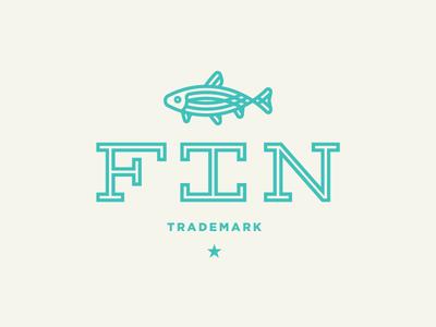 Fin Logo Concept (3 of 4) monoweight fish trout fin