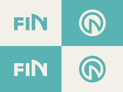 Fin Logo // Final end trout shark icon logo fin post production