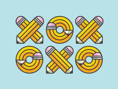 XOXOXO 2 o x letter illustration lettering type pencil