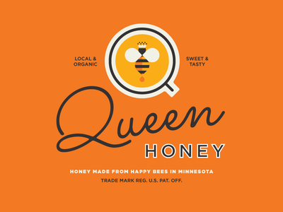 Queen Honey Identity buzz buzz orange royal queen bee queen bee honey