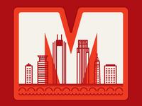 Minneapolis Sticker/Patch m city monoweight illustration minneapolis