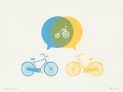 Baby to Be - Limited Edition love poster baby babies bikes
