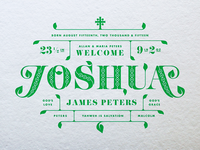 Joshua Birth Announcement - Revised