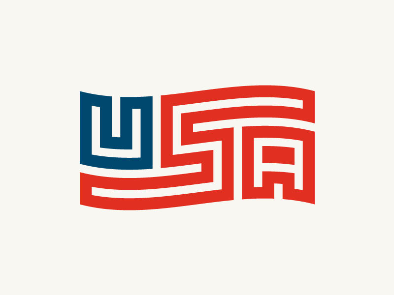 U! S! A! Revised + T-shirt and Color Options merica u.s.a. us lettering typography patriotic america usa