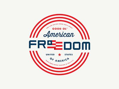 Design taught me good ol' American freedom logo antique classic retro crest badge united states usa stars flag america freedom