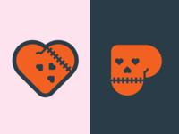 Skull Heart Sticker sticker heart skull