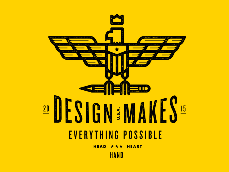 T-shirt Give Away! Design Makes Everything Possible shirt pencil eagle