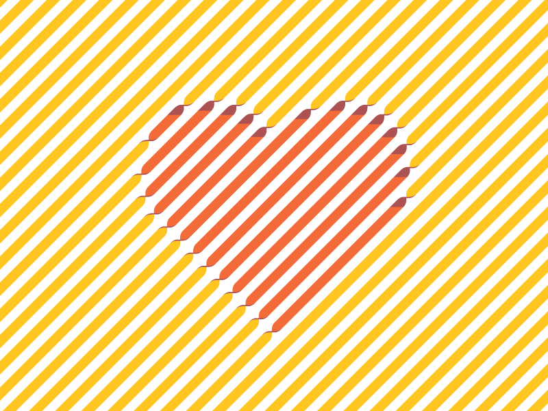 Valentine's Day Desktop/Print twisted love stripes heart ribbon