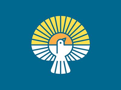 Peace Church Icon identity branding brand logo sun church peace dove
