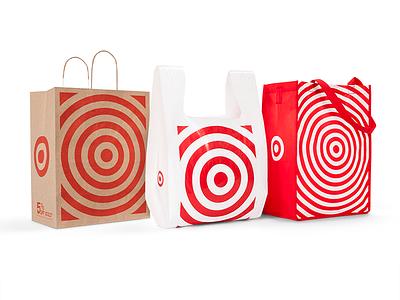 Target Bag Redesign bullseye stripes logo target branding