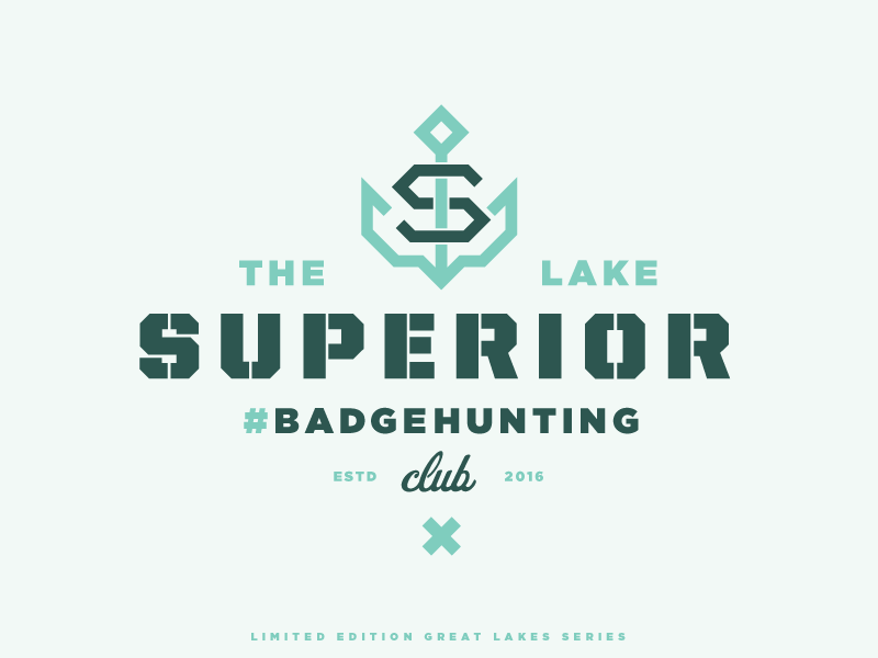The Lake Superior #Badgehunting Club lake anchor crest badge