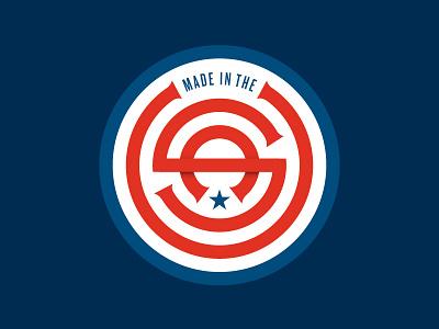 Made in the USA logo made here pride stars stripes america