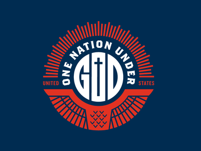 One Nation merica u.s.a. us lettering typography patriotic america usa
