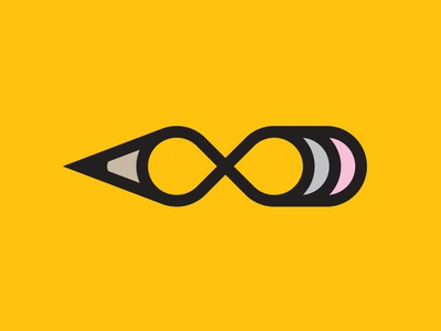 Always logo poster icon always draw drawing pencil infinity