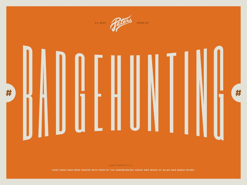 New #Badgehunting Talk on Youtube logo design logos badges badge lecture talk