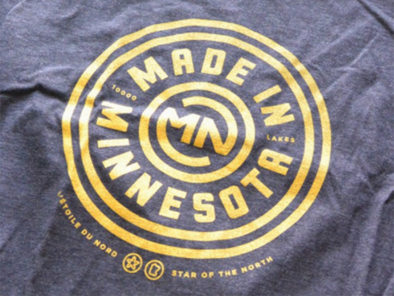 Made in Minnesota graphic apparel t-shirt icons logo state minnesota mn